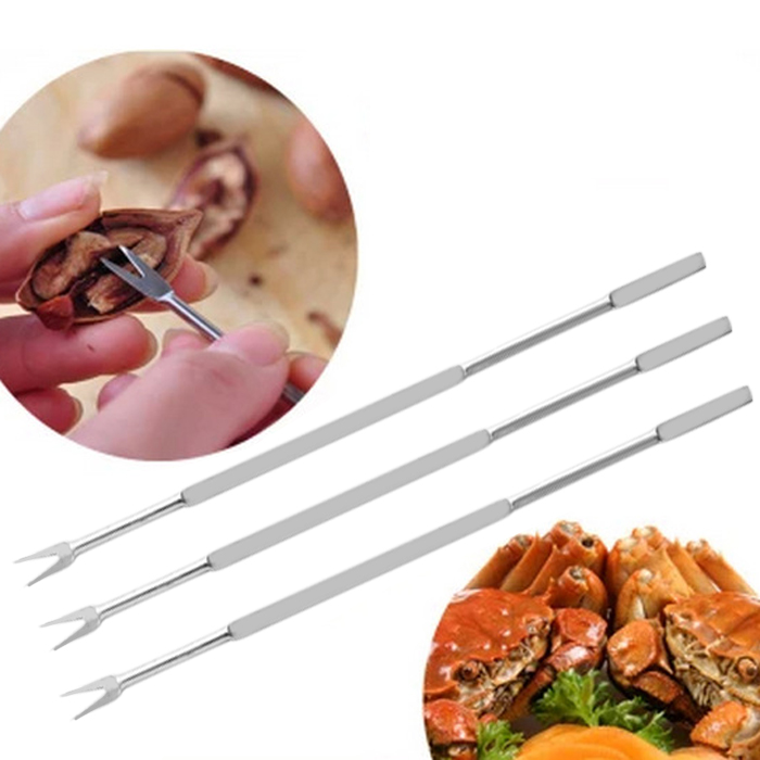 4PCS Multi-functional Stainless Steel Walnut Needle Seafood Crab Pin Tools