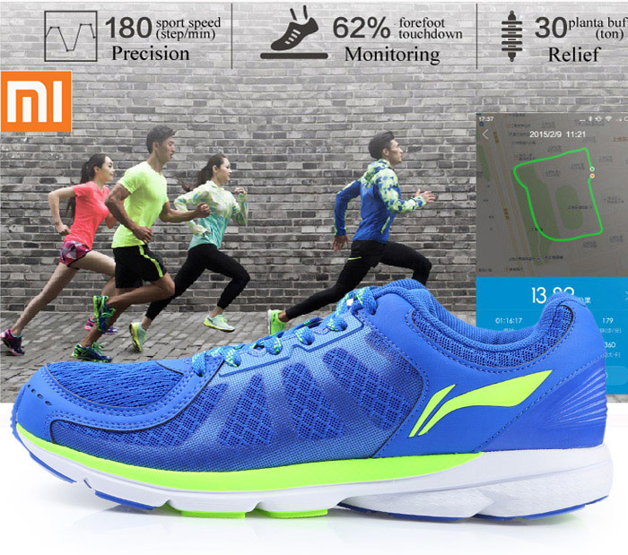 265386f30cd93 Smart Running Shoes with Bulit-in Xiaomi Mi Chips Intelligent Sneakers  Network Breathable Cushioning -