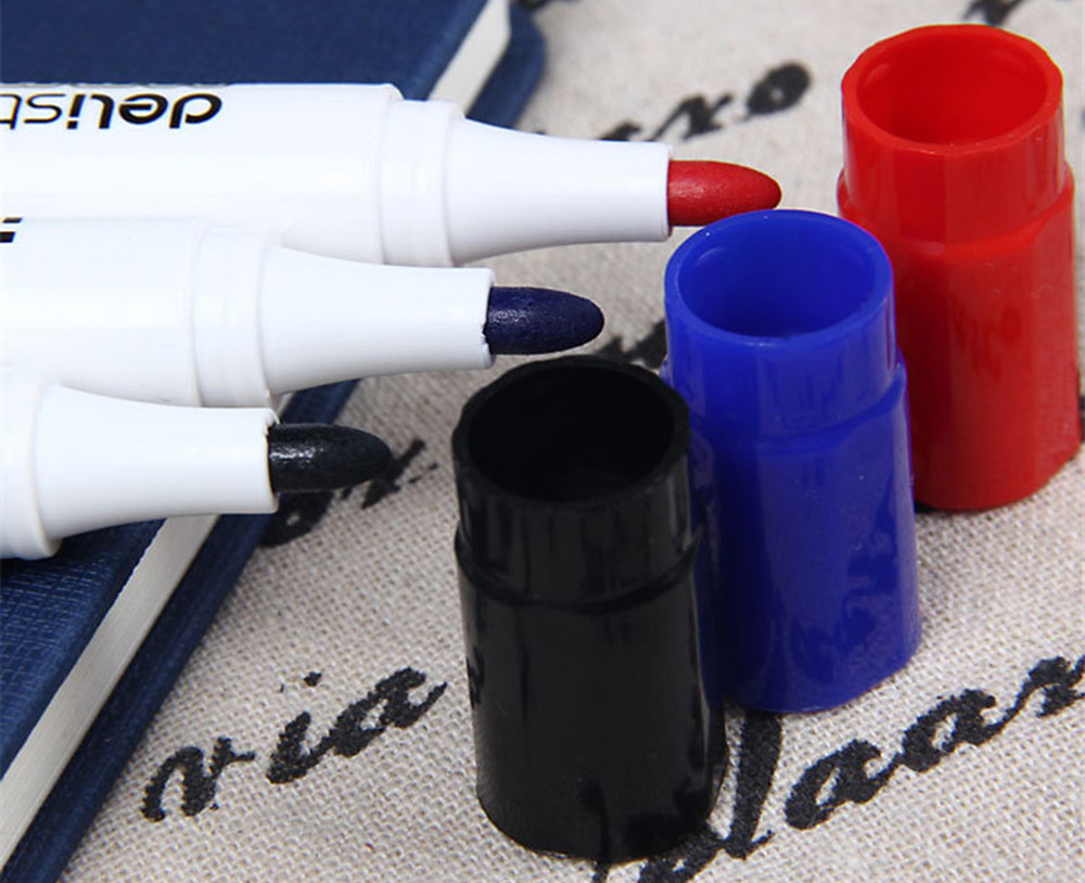 10PCS Delistar Erasable High-capacity Whiteboard Pen