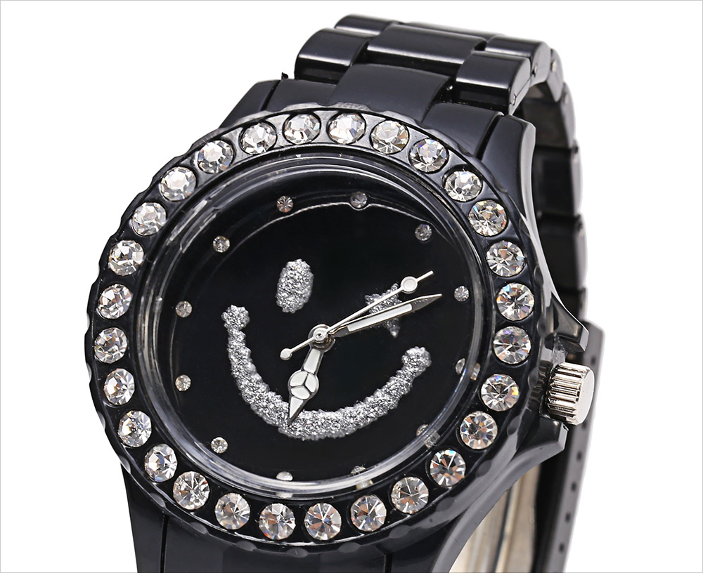 Casual Style Female Diamond Dial Quartz Watch