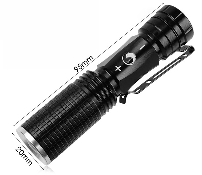 UKing ZQ - X900 CREE XPE Q5 600LM Zooming Mini LED Flashlight