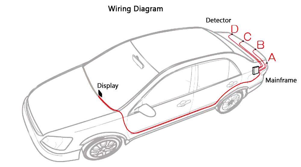 Parking Sensor Wiring Diagram on rear view mirror backup camera