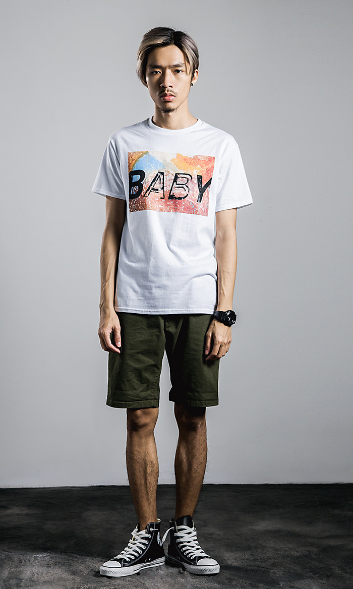 Unisex Short Sleeve BABY Letter Printing T-Shirt Casual Style