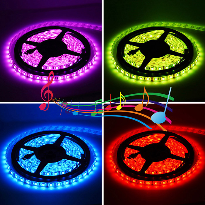 2pcs HML 300 x SMD 5050 / 5M 72W 6000Lm Waterproof RGB LED Strip Light + Remote Controller