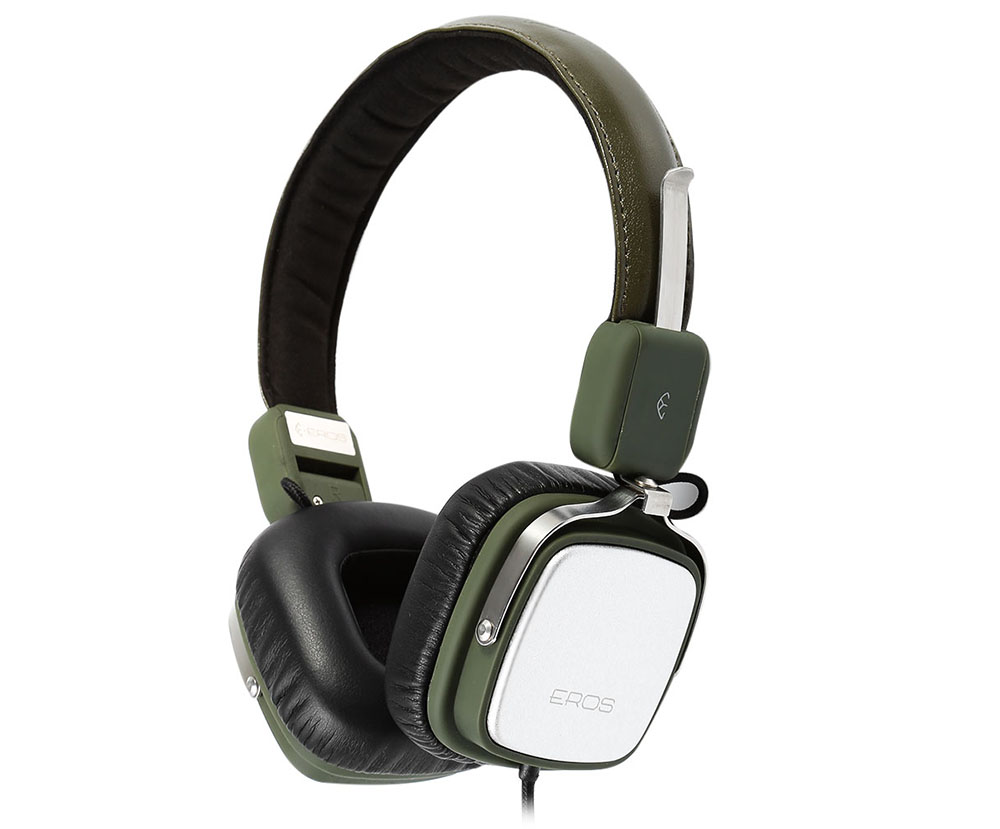 Aigo Eros H651 Hifi Music Headphones Soft Leather Earmuff 6622 Ems Adjustable Headband Green Gold For Baby Package Contents 1 X Storage Bag