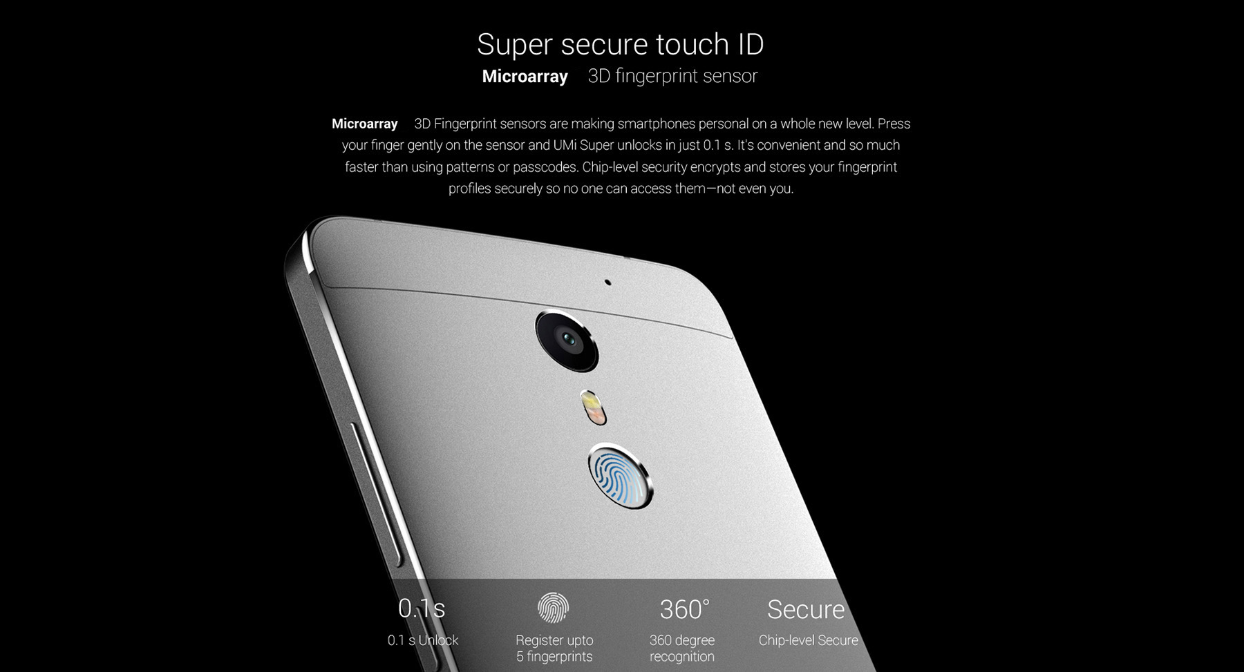 UMI Super 5.5 inch 2.5D Arc Screen 4G Phablet Android 6.0 Helio P10 64bit Octa Core 2.0GHz 4GB RAM 32GB ROM 5MP + 13MP Cameras Fingerprint Scanner OTG Type-C HiFi