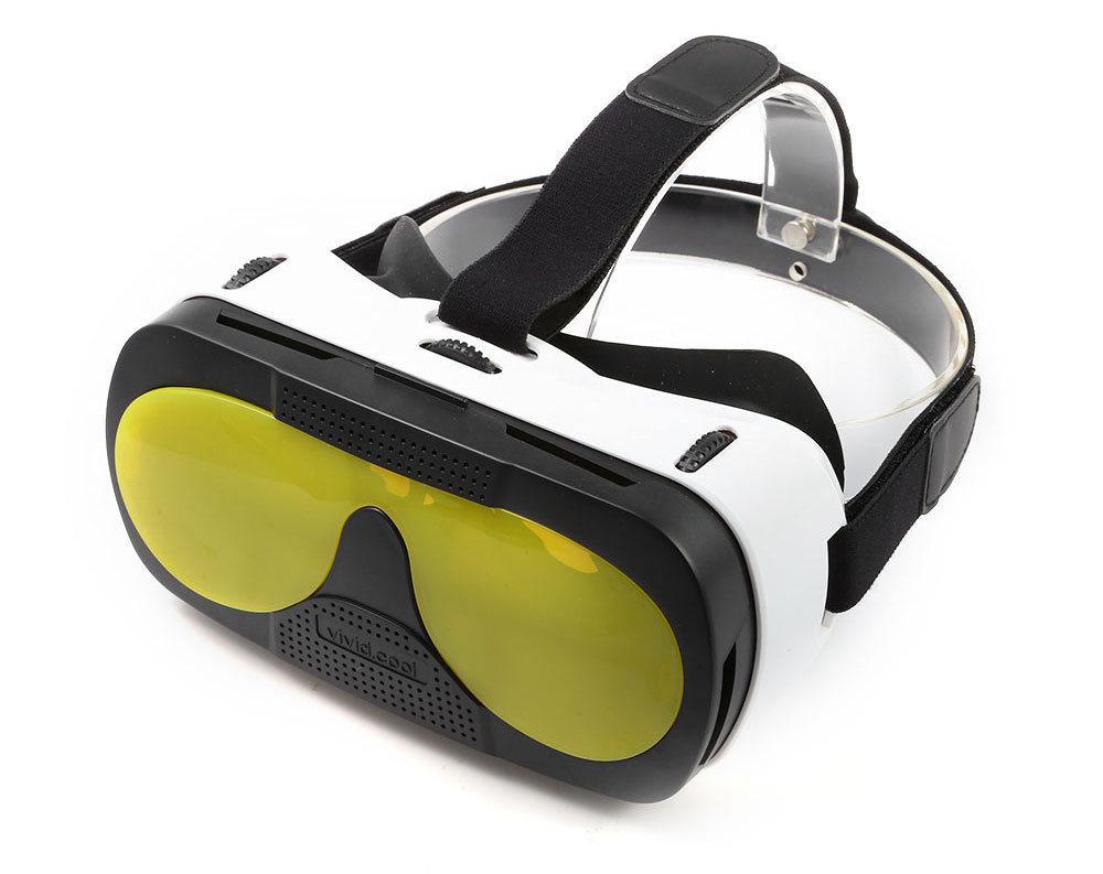 VR Glasses Virtual Reality Headset with 3D Lens for 4 - 5.7 inch Smartphones Wearing Adjustable IPD