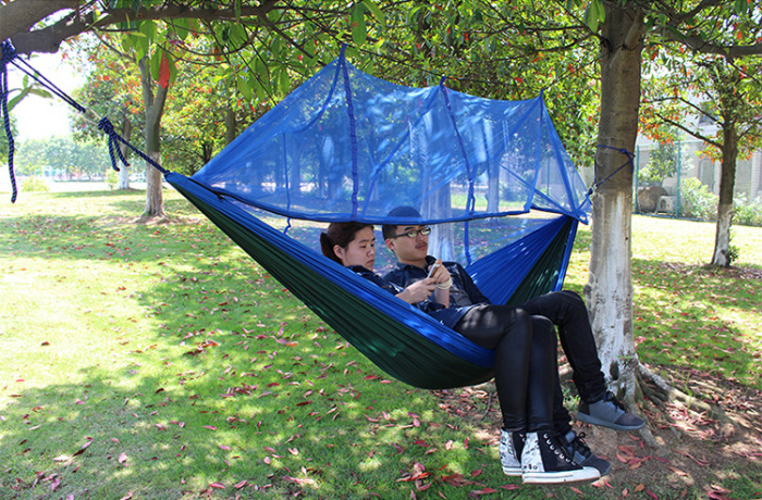 AOTU AT6730 2-Person Outdoor C&ing Parachute Nylon Fabric Hammock & AOTU AT6730 2-Person Parachute Nylon Fabric Hammock -$21.85 Online ...