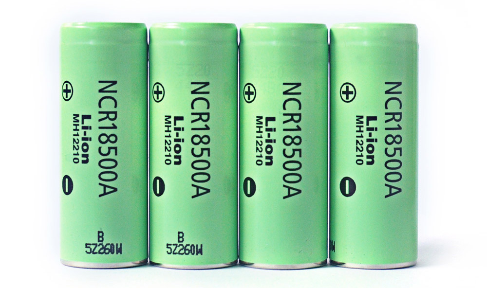 4pcs NCR18500A 4.2V 2040mAh Rechargeable 18500 Lithium-ion Battery- Green  4PCS