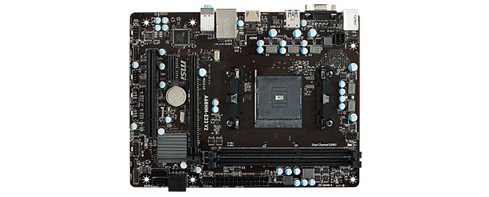 Package Contents: 1 x MSIA68HM - E33 V2 Motherboard
