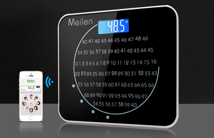 MEILEN 508 Portable Precision Body Fat Scales Electronic Personal Weighing Tool with LCD