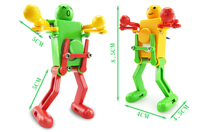 Clockwork Spring Wind Up Dancing Robot Toy Gift for Children Kid- Colormix