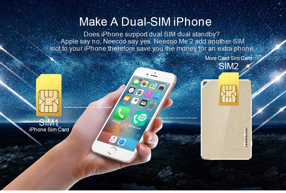 do iphones have sim cards neecoo dual sim card adapter bluetooth use two sim cards 16863
