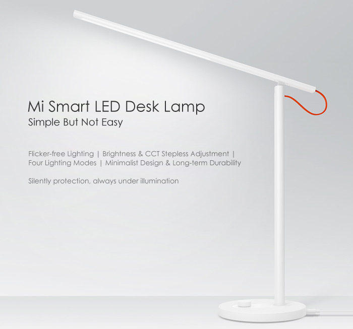 Xiaomi Mijia Smart Led Desk Lamp 39 99 Online Shopping