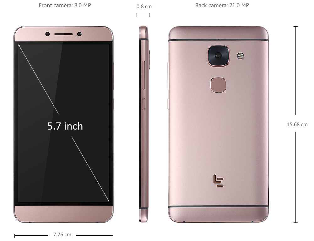 LeTV Leeco Le Max 2 5.7 inch 2K Screen 4G Phablet Android 6.0 Snapdragon 820 64bit Quad Core 2.15GHz 4GB RAM 32GB ROM 21MP Rear Camera Type-C Fingerprint Sensor VoLTE