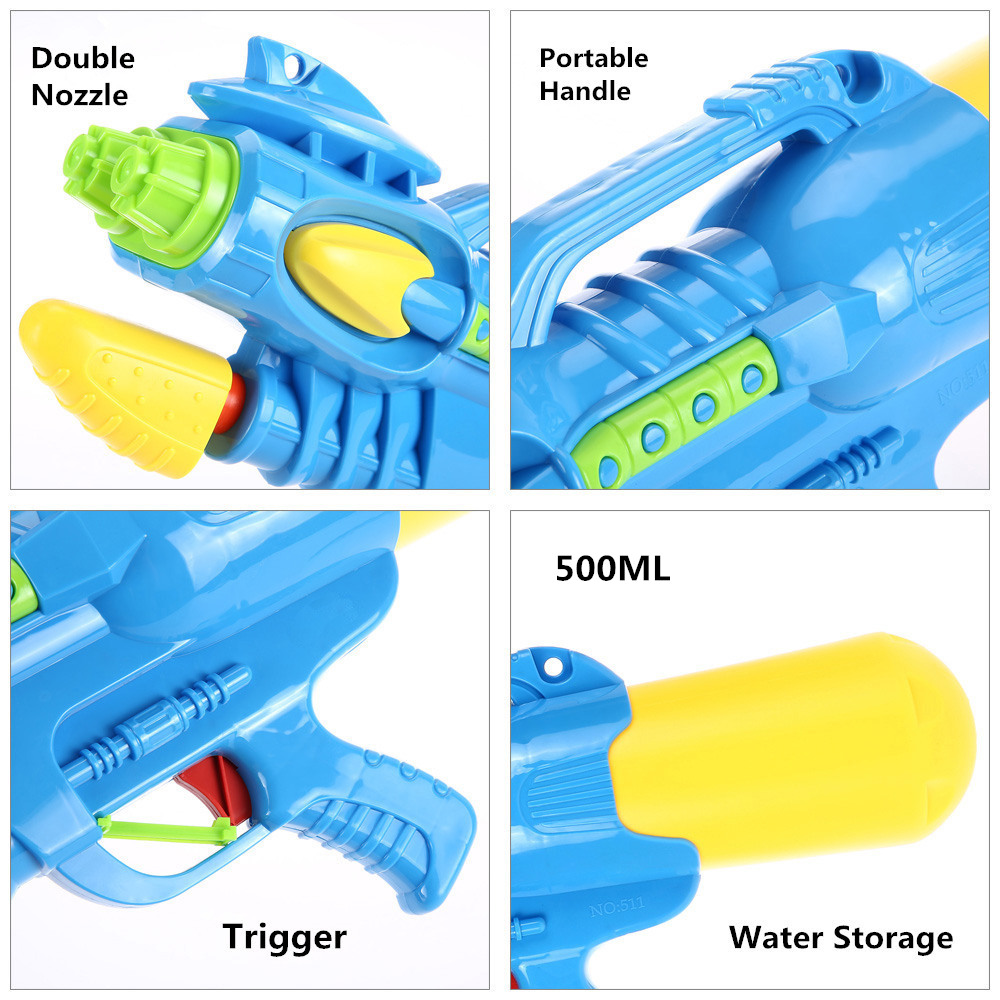 Newest Cool Double Nozzle High Pressure Water Gun Toys Pistol Large For Children