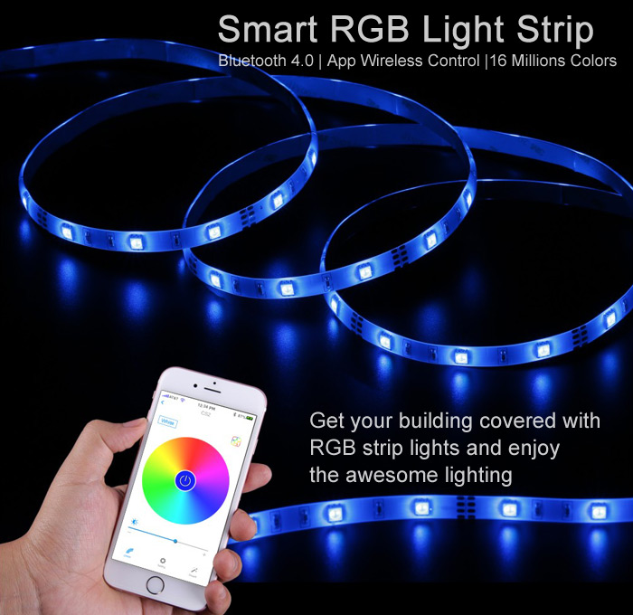 Singhong cs2 bluetooth led light strip 3186 online shopping singhong cs2 smart 3m 90 led rope light app control 16 million colors aloadofball Choice Image