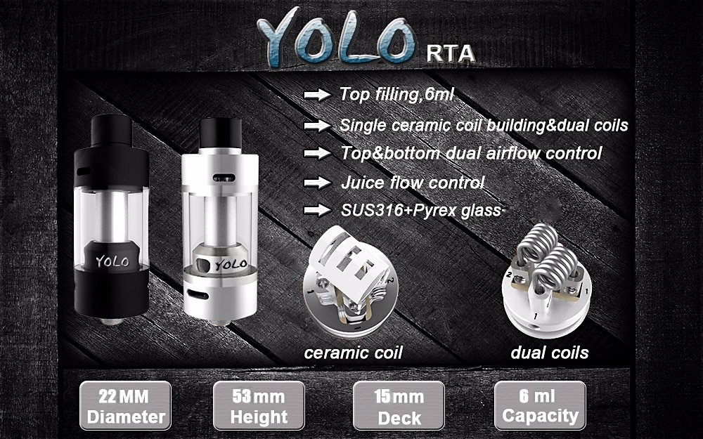 Original Focusecig Yolo RTA Atomizer