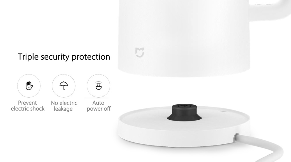 Original Xiaomi Mi Electric Kettle Power-off Protection 304 Stainless Steel Inner Layer - 1.5L- White