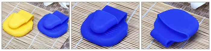 Mini Silicone Heat Insulation Gloves Table Surface Protector Pad- Colormix
