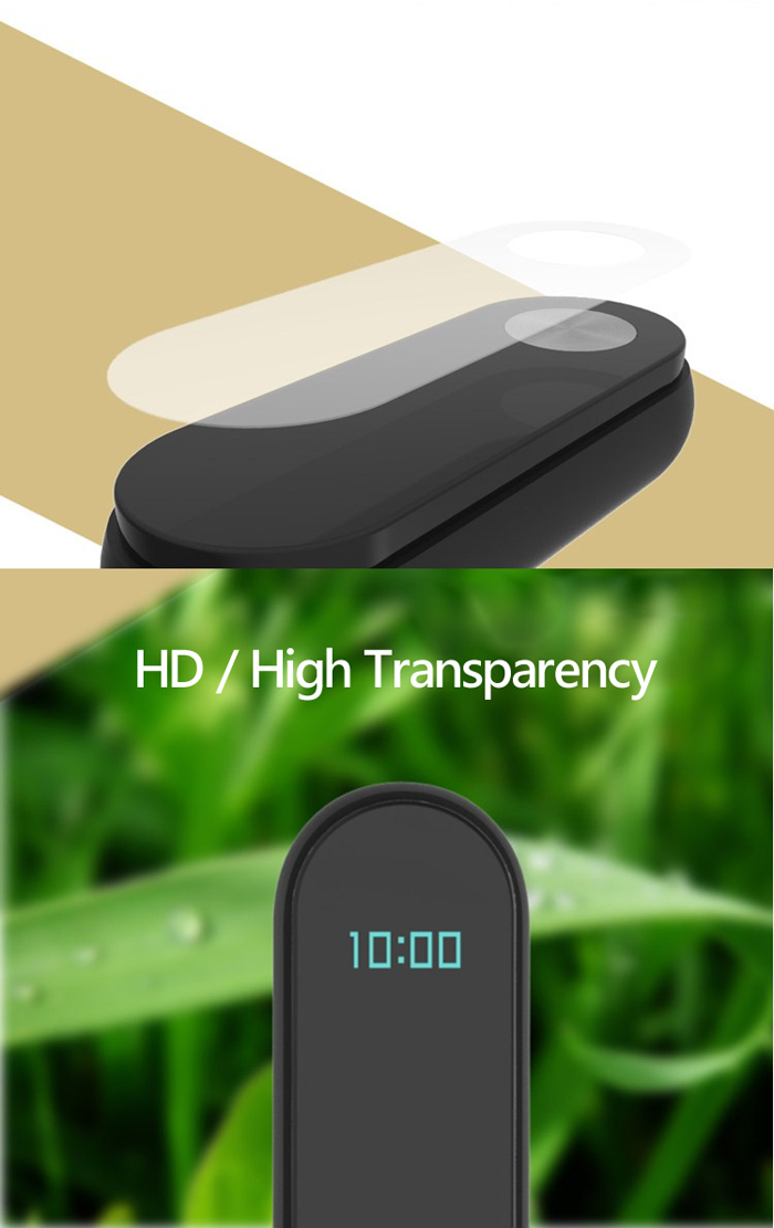 2PCS HD Scratch Resistant Protective Film for Xiaomi Miband 2- Transparent