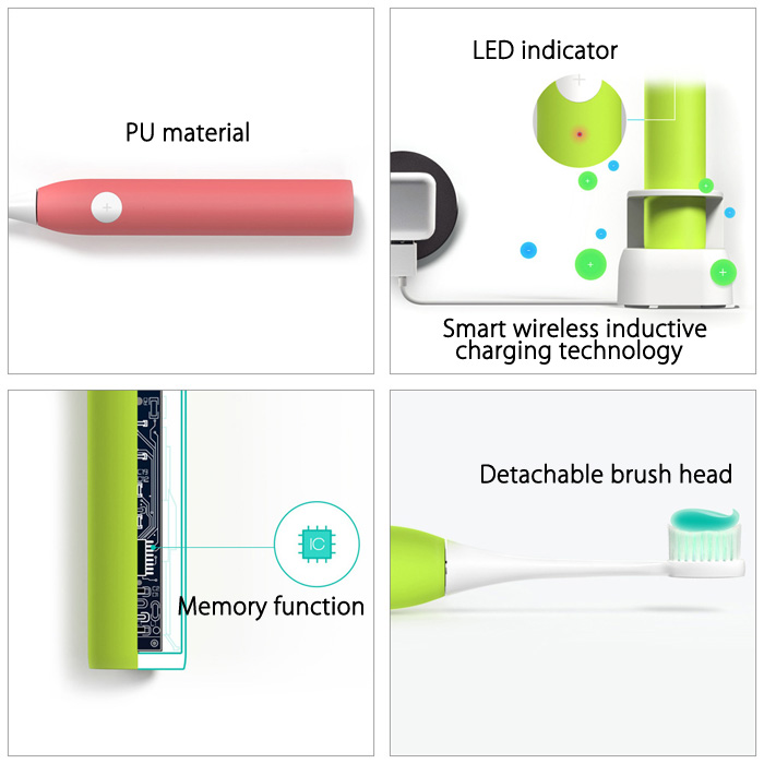 Smartsonic+ JK - T5 Electric Ultrasonic Vibration Tooth Brush 3 Working Speeds Sonic Toothbrush
