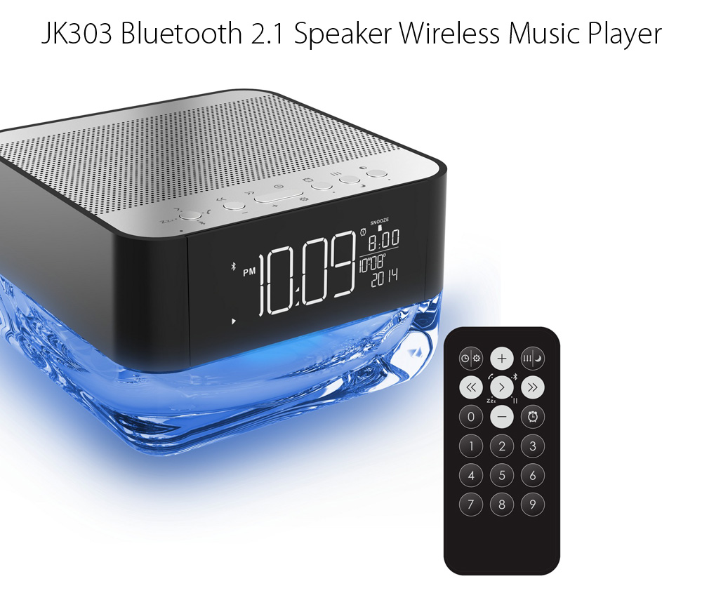 JK303 Wireless Bluetooth Speaker with Remote Control Crystal Design
