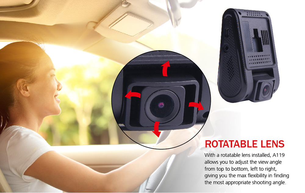 VIOFO A119 1440P 30fps 2 inch LCD 160 Degree Wide Angle Lens Car Dash Camera DVR Recorder with GPS Function / Safe Capacitor / Novatek 96660 / OV4689