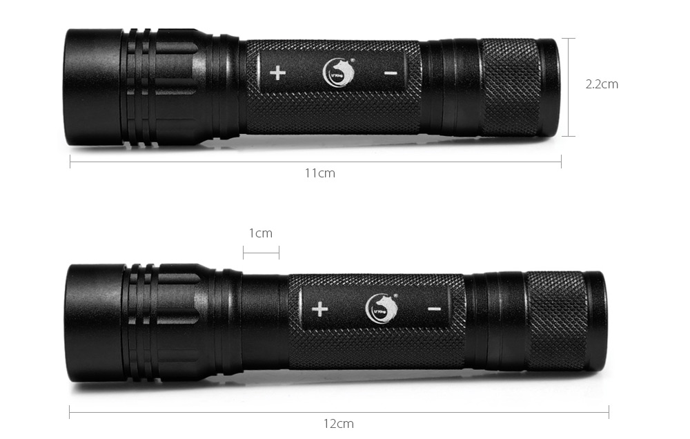 UKing ZQ - X808 1000Lm Cree XML T6 18650 LED Flashlight Adjustable Focus