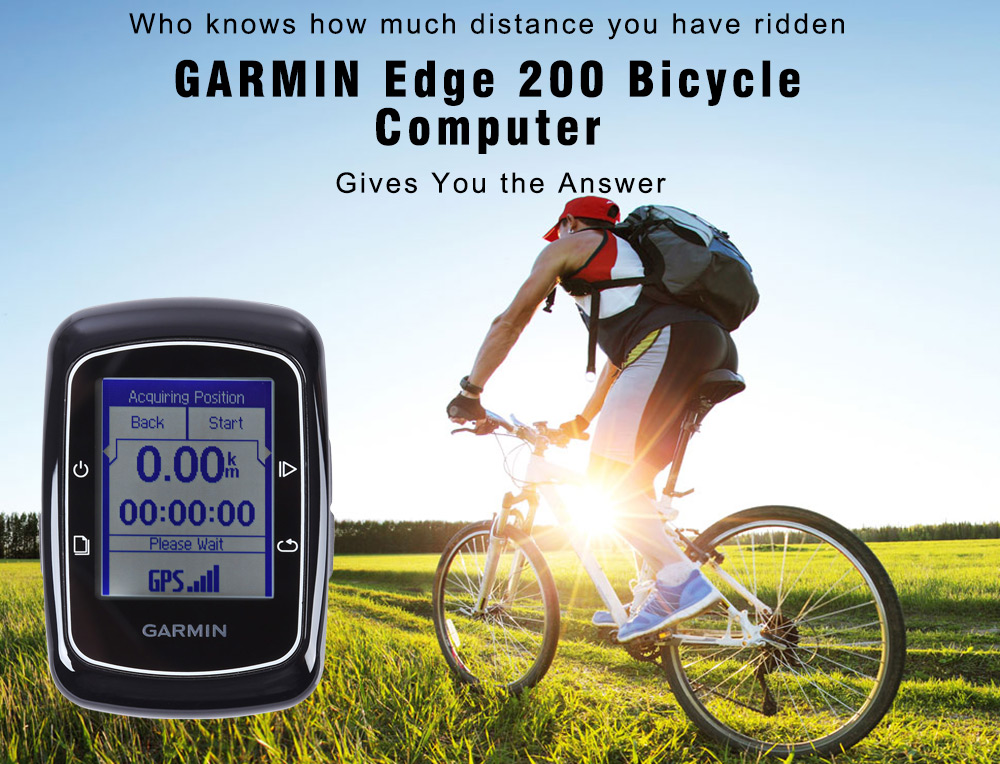 GARMIN Edge 200 GPS Bicycle Computer IPX7 Waterproof Black