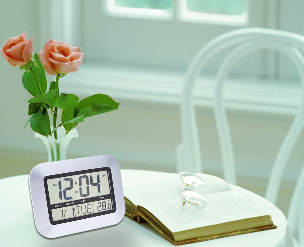 Ts h128y electronic wall alarm clock temperature measurement ts h128y multi functional electronic thermometer hygrometer calendar digital wall alarm clock amipublicfo Gallery