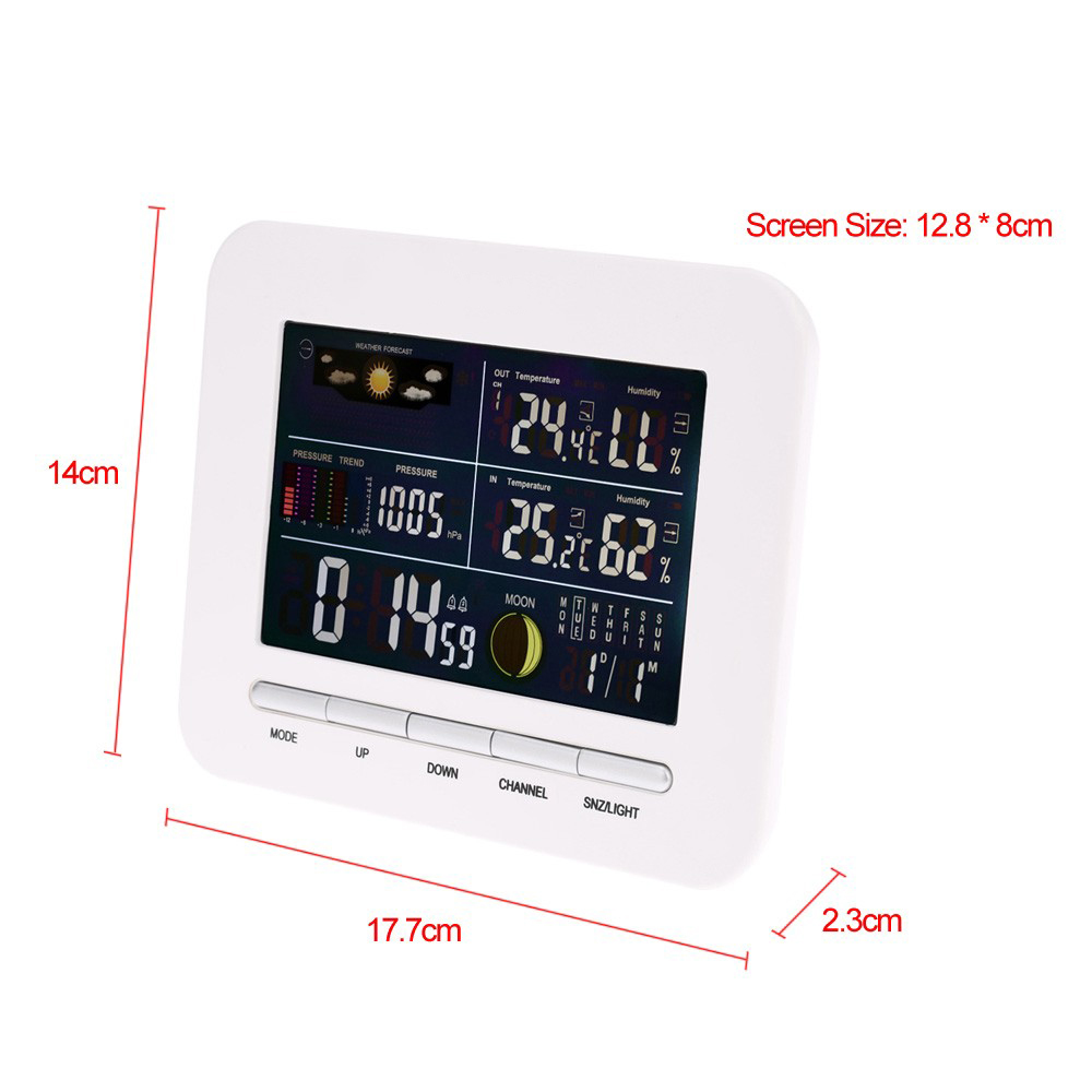 Ts 76 Wireless Weather Station Digital Alarm Clock 2545 Free How To Build 72 Led Multi Functional 433mhz Lcd Thermometer Hygrometer