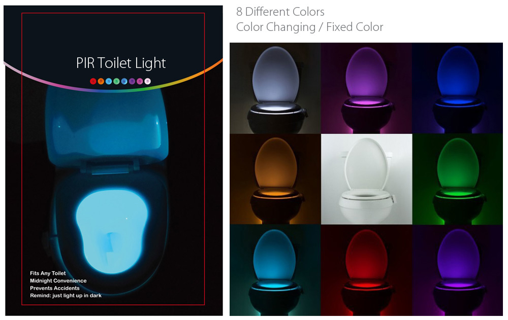 BRELONG AAA Infrared Induction LED Toilet Night Light Bath Closestool