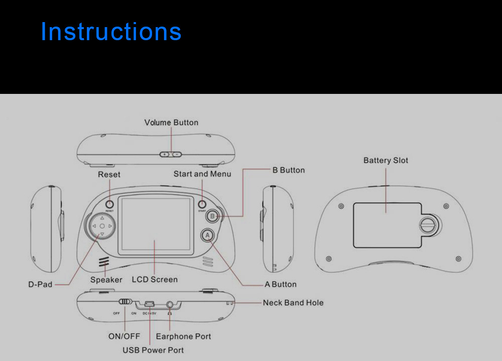 D Line Drawing Game : Oplayer mgs2702b mini handheld game console controller $0 online