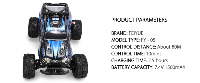 FEIYUE FY - 05 1 : 12 Full Scale 4WD 2.4G 4 Channel High Speed Crossing Car Off Road Racer