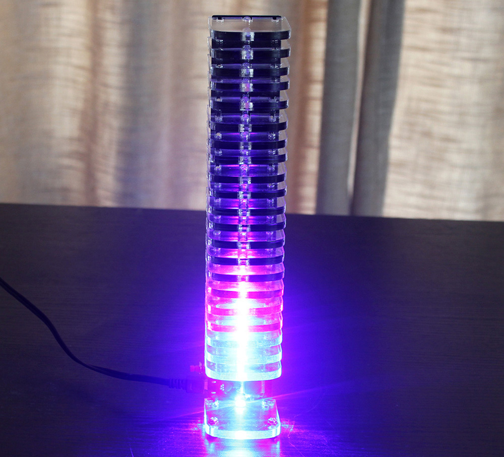 Crystal Cube LED DIY Kit Music Spectrum VU Tower