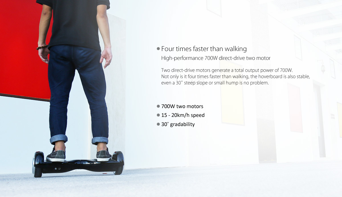 Hiwheel H3 6.5 Inch Intelligent 2 Wheels Hoverboard Self Balancing Scooter 15 - 20km Mileage- Blue