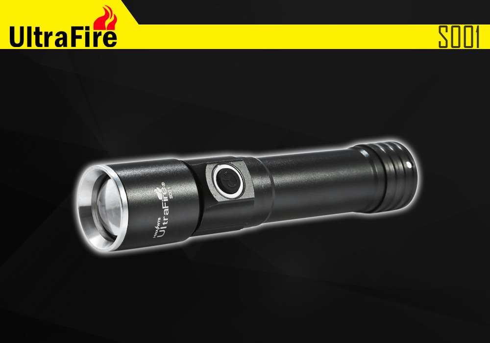 UltraFire S001 Cree Q5 Long Beam Zoomable EDC LED Flashlight ( 350Lm 3 Modes 1 x 18650 Battery )