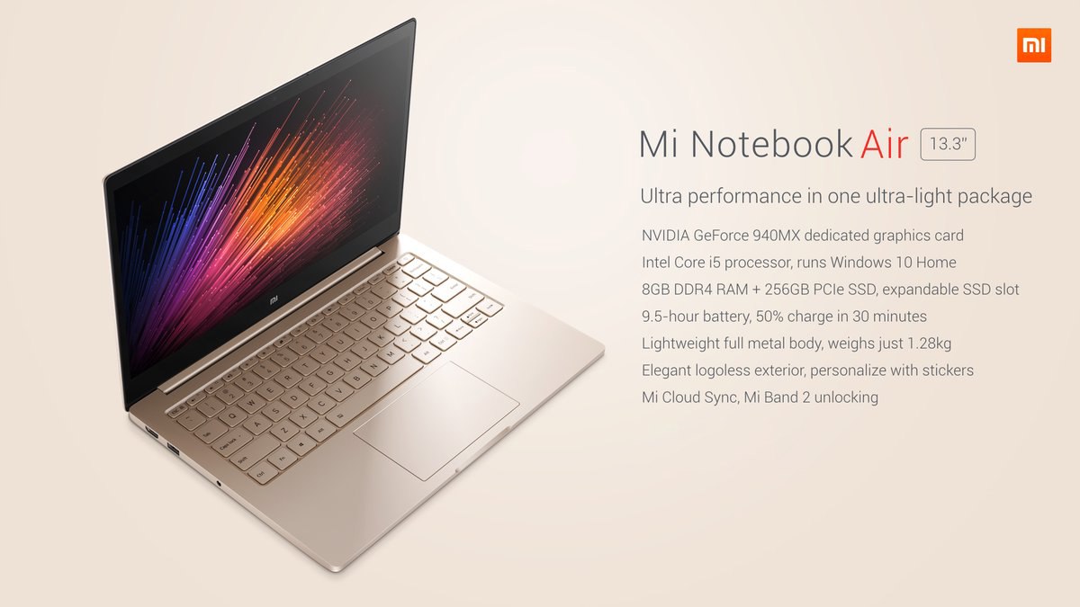 Xiaomi Air 13 Notebook Windows 10 Intel Core i5-6200u Dual Core 2.3GHz 13.3 inch IPS Screen 8GB RAM 256GB SSD Front Camera Bluetooth 4.1 Type-C laptop xiaomi air 13, un cupon din partea magazinului gearbest