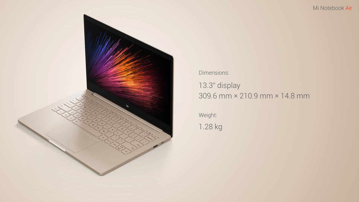 Xiaomi Air 13 Notebook Windows 10 Intel Core I5 6200u Dual