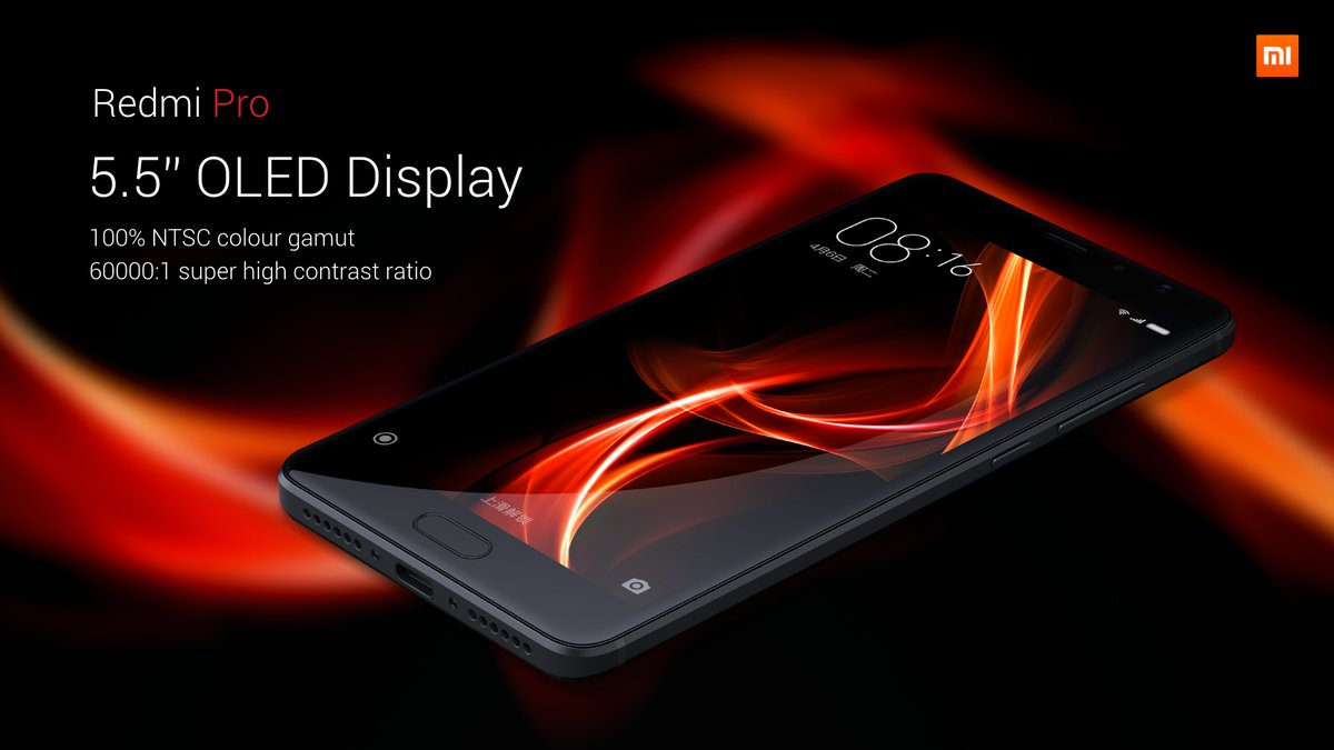 Xiaomi Redmi Pro Android 6.0 5.5 inch 2.5D Arc Screen 4G Phablet Helio X20 Deca Core 1.39GHz 3GB RAM 32GB ROM Fingerprint Scanner 13.0MP Dual Rear Camera Bluetooth 4.2