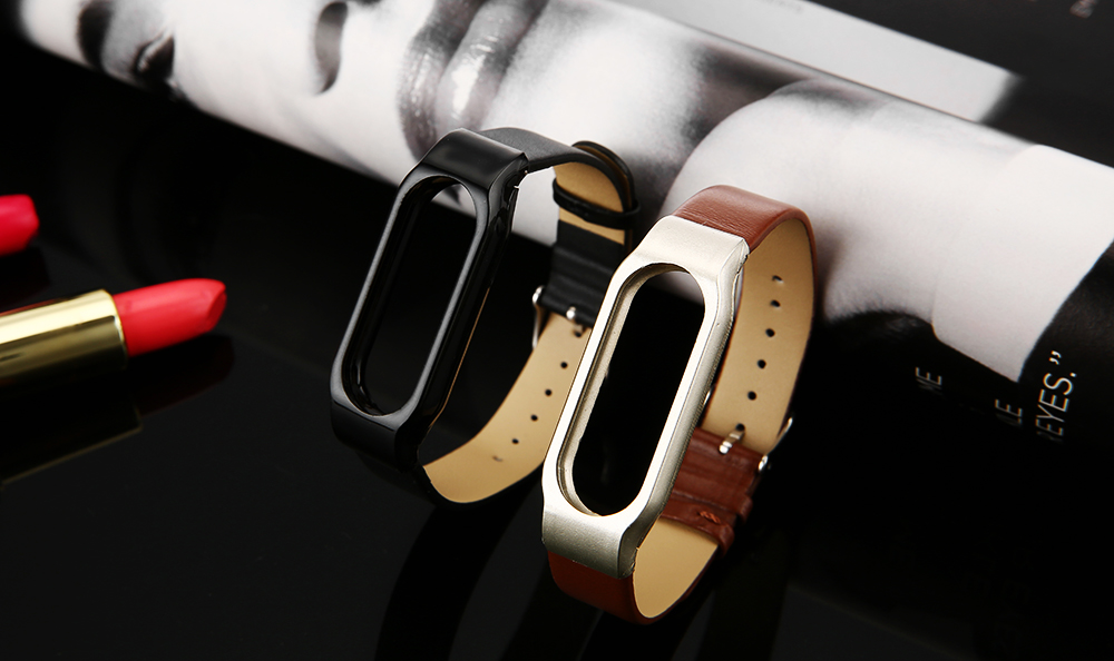 D.MRX Genuine Leather Band for Xiaomi Miband 2