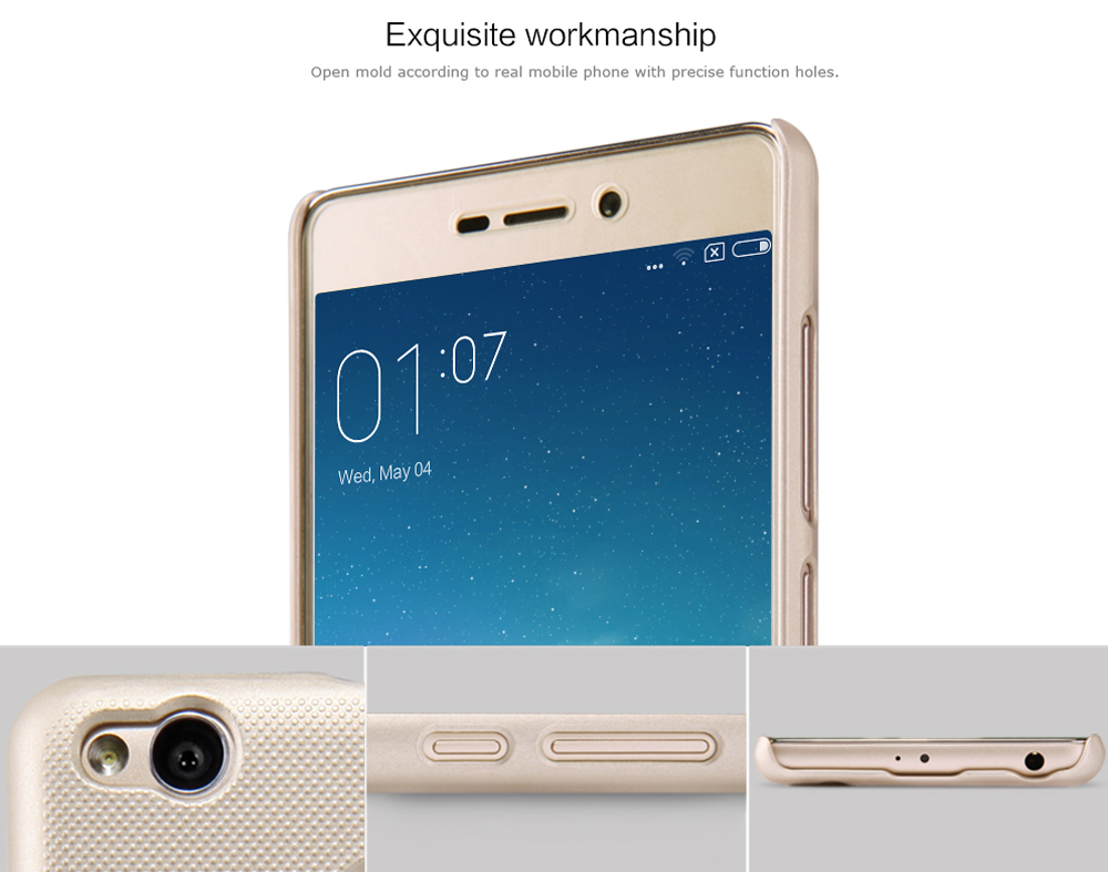 Nillkin Protective Phone Case For Xiaomi Redmi 3 Pro 619 Free Frosted Style Pc Hard Cover With Screen Film