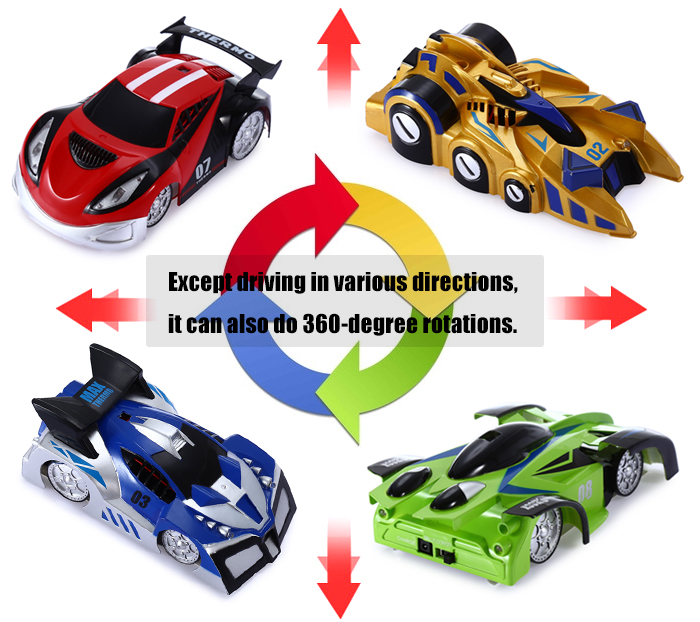 JJRC Q2W USB Rechargeable Wall Climbing Car via Bluetooth Manipulation