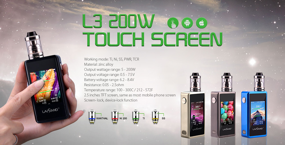 Originale Laisimo L3 200W Touch TC Box Mod