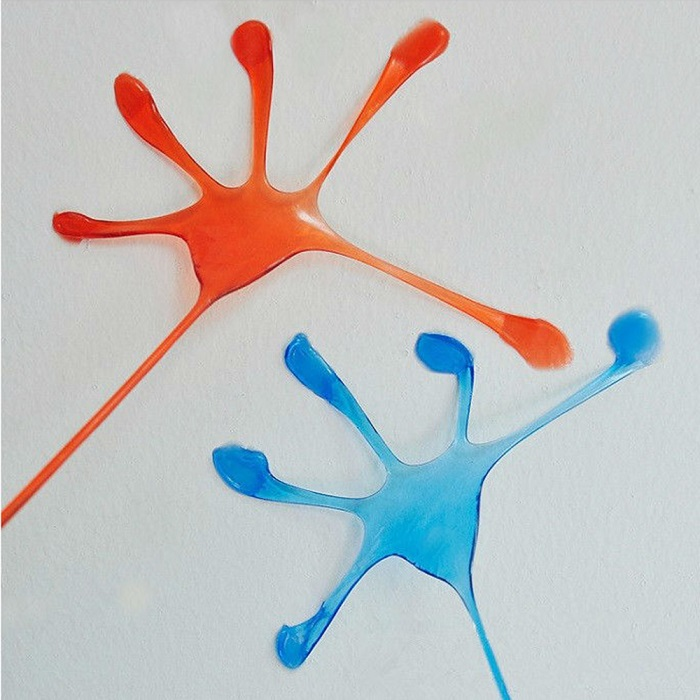 Sticky Glitter Hand Style Stress Reliever Squishy Toy for Office Worker - 5pcs