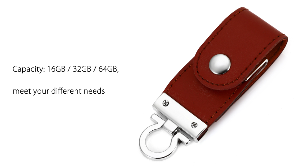 Leather 2 in 1 16GB OTG Micro USB + USB 3.0 Flash Drive Data Storage Device