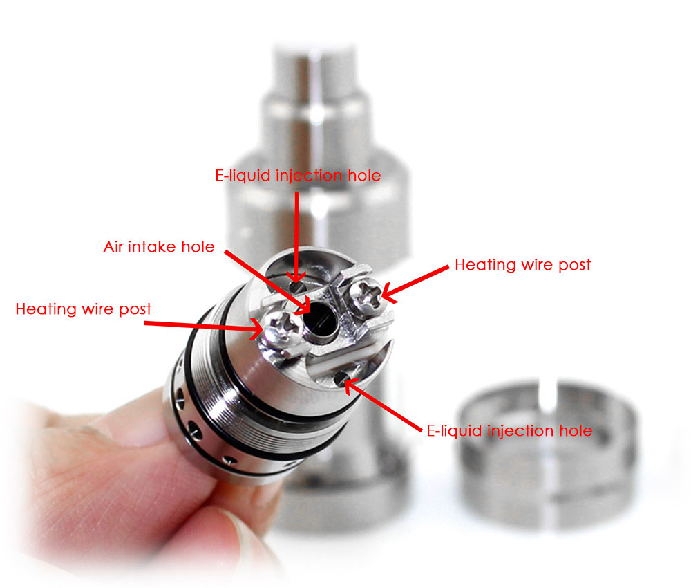Coppervape Kf V5 RTA 4ml E Cigarette Rebuildable Tank Atomizer with Top Filling / Juice Flow Control / Dual Bottom Airslots