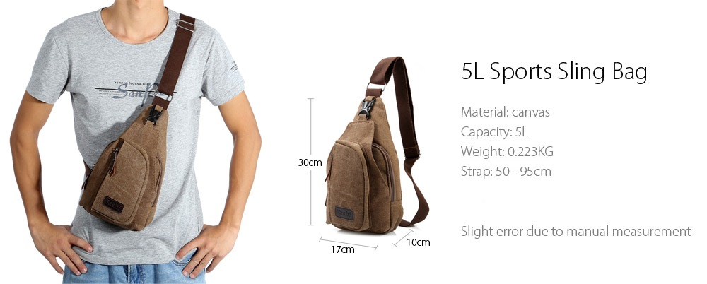 5L Male Leisure Canvas Sports Sling Bag -$6.79 Online Shopping ...