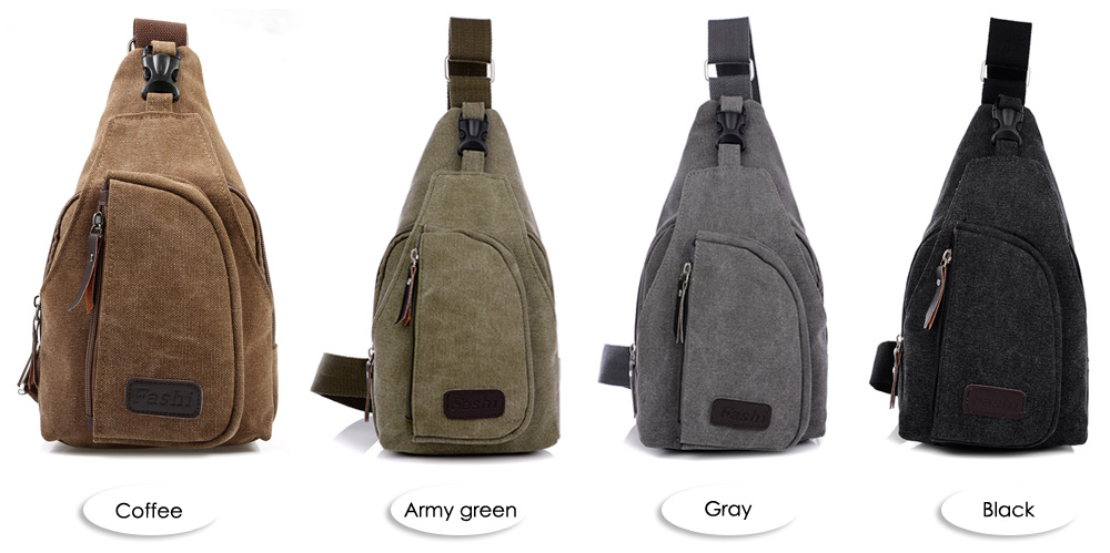 Male Leisure Canvas Sports Sling Bag 5L